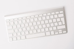 Top view photo of pc keyboard without characters, clean keyboard, empty keyboard