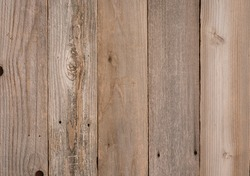 Top View Photo of vertical Naturally Aged, Rough textured Rustic Brown Cedar Wood Boards as Background or Template with Blank Room or Space for your Design, Words, Text or Copy.  Horizontal rectangle