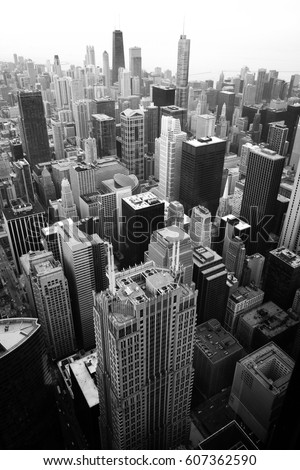 Top view photography of the city and the buildings #607362590