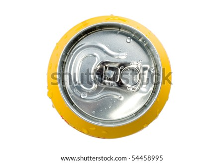 Top view soda can isolated