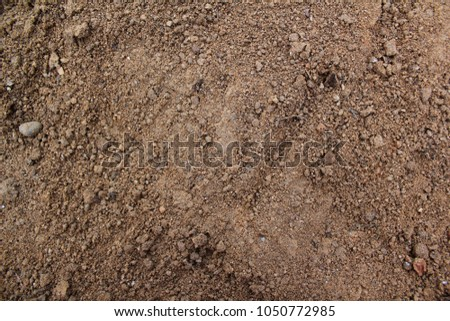 Top view Soil texture background. Sand .  #1050772985