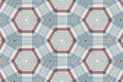 Top view, striped hand woven fabric texture background