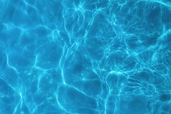 Top view swimming pool bottom water caustics background