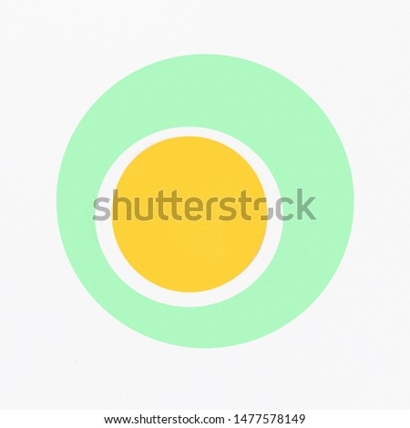Top view yellow circle inside circle #1477578149