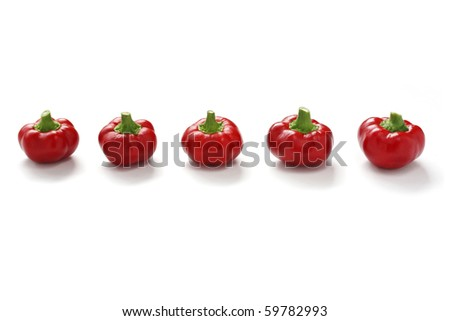 Topepo Rosso, Italian  sweet peppers (tomato shaped)
