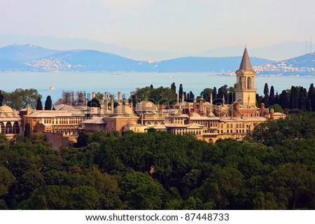 Topkapi Palace before Marmara sea, Istanbul, Turkey