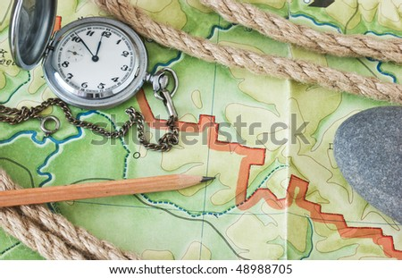 topographic maps and pocket watches