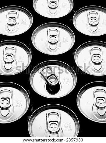 Tops of aluminum cans