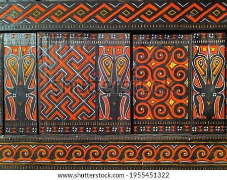 Toraja house wood carving ornament Photo stock ©