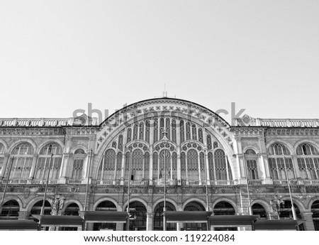 Torino Porta Nuova railway station in Turin, Italy
