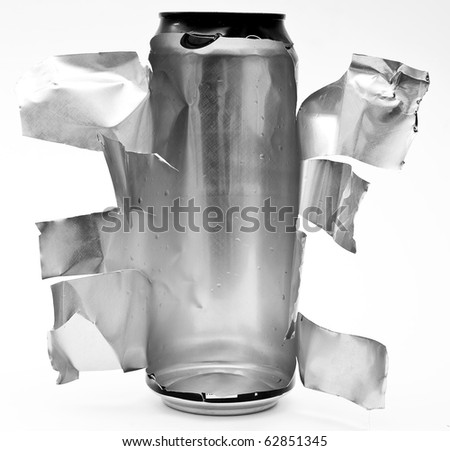 Torn aluminum can