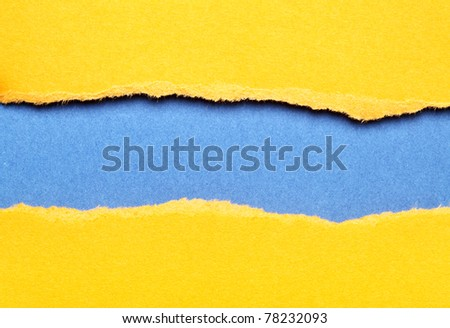 Torn color paper background with space for your text