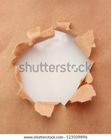 Torn craft paper background