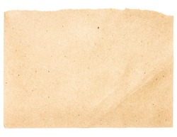Torn Notepaper recycled beige paper cardstock texture as background