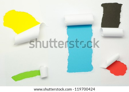 Torn Paper and space for text with colorful background