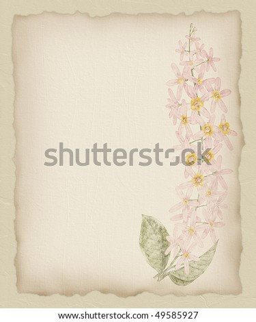 Torn Paper Flower Background 1