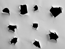 Torn paper holes and ripped edge textures