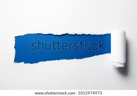 Torn paper with blank space for your message
