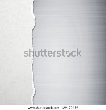 Torn paper with metal background