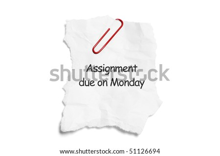 Torn Paper with Paperclip on White Background
