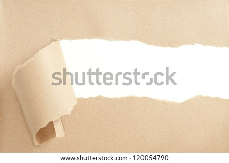 Torn paper with space for text showing a white background
