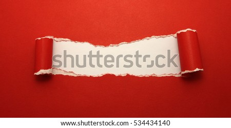 Torn paper with space for your message #534434140
