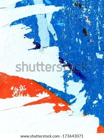 Torn street posters / Torn paper / Art / Peeling paint / Grunge background / Graffiti