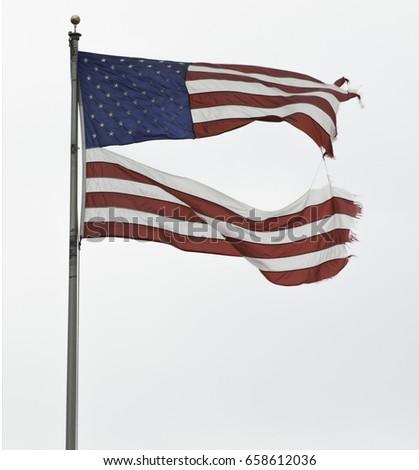 Torn USA Flag #658612036