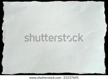 torn white paper isolated on black background, ready for your message. - stock photo