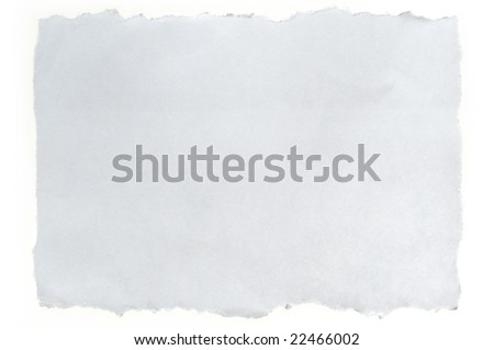 torn white paper isolated on white background, ready for your message.