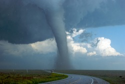 Tornado and Large Hail near the Southeast Colorado and Northwestern Oklahoma Border
