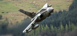 Tornado GR4 fighter bomber jet flying low level