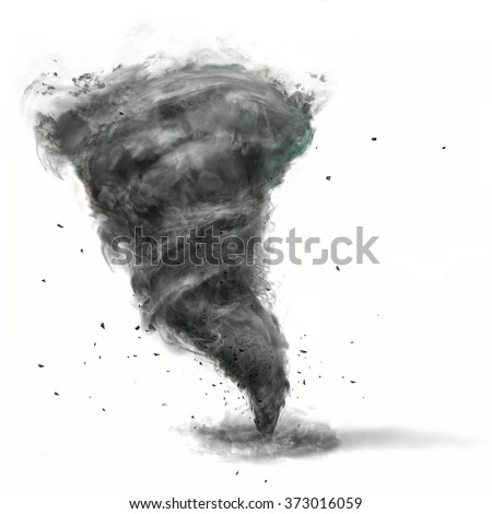 tornado on white background