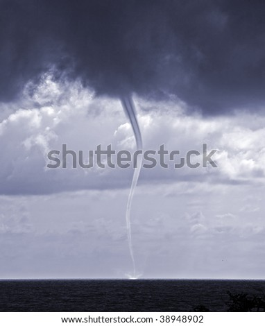 tornado over sea in the Black sea