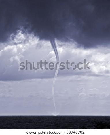 tornado over sea in the Black sea