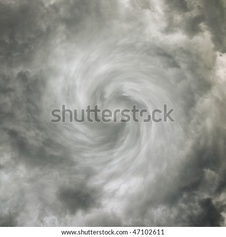 Tornado - sky with storm clouds