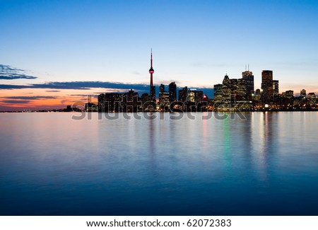 Toronto at night, Canada
