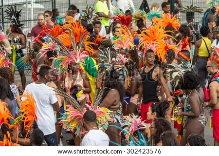 TORONTO - AUGUST 1, 2015: Caribana, now known as The Scotiabank Toronto Caribbean Carnival, a celebration of Caribbean culture and traditions held annually in the city of Toronto, Ontario, Canada