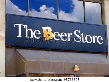 TORONTO - AUGUST 1: The Beer Store sign on August 1, 2011 in Toronto. The Beer Store is a privately owned joint-venture chain of retail outlets in Ontario, Canada, founded in 1927.
