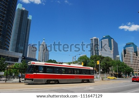 TORONTO, CA- JUNE 26: Downtown Toronto transit system on June 26, 2011 in Toronto, Canada.Toronto has one of the largest and oldest transit systems in the country with easy access to the public