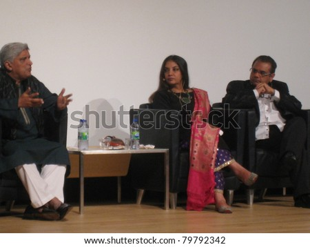 TORONTO, CANADA - JUNE 23: Javed Akhtar and Shabana Azmi at 'Bollywood, Hollywood and Beyond' on June 23, 2011 in Toronto. A pre-event to Indian International Film Academy (IIFA) Awards on June 25, 2011.