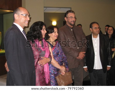 TORONTO, CANADA - JUNE 23: Kabir Bedi (4th fr L) at 'Bollywood, Hollywood & Beyond' on June 23, 2011 in Toronto. A pre-event to the Indian International Film Academy (IIFA) Awards to be held on June 25