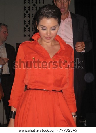 TORONTO, CANADA - JUNE 23: Lisa Ray at 'Bollywood, Hollywood And Beyond' on June 23, 2011 in Toronto. A pre-event to the Indian International Film Academy (IIFA) Awards to be held on June 25, 2011.