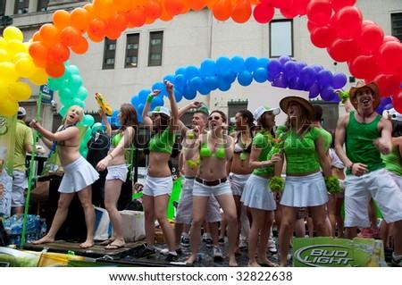 TORONTO, CANADA - JUNE 28: Stage performers at Toronto Pride. Toronto Gay Pride Parade, June 28, 2009