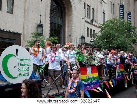 TORONTO, CANADA - JUNE 28: Toronto District School Board marching in Toronto Pride. Toronto Gay Pride Parade, June 28, 2009