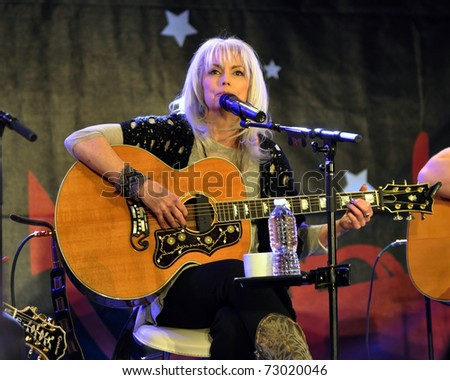 TORONTO, CANADA - MAR 12: Renowned singer/songwriter Emmylou Harris performs at the Songwriter's Circle as part of Canadian Music Week on March 12, 2011 in Toronto, Ontario Canada.