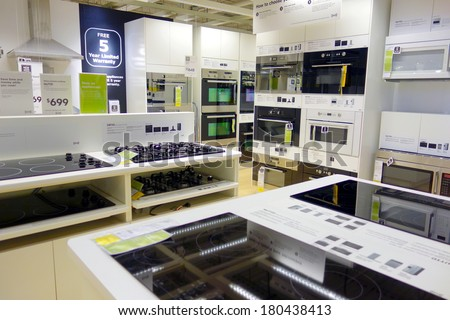 Toronto Canada March 1 2014 Kitchen Appliances On Display At An Ikea Store In Toronto