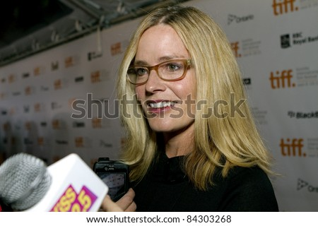stock photo   toronto  canada   september 8  2011  actress elisabeth shue