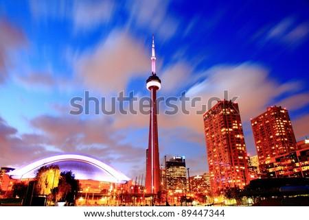 Toronto CN Tower at Night