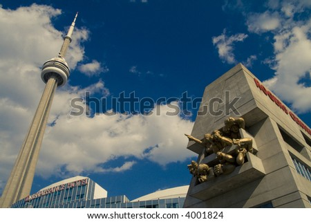 Toronto CN Tower near Renaissance Hotel and Rogers Centre